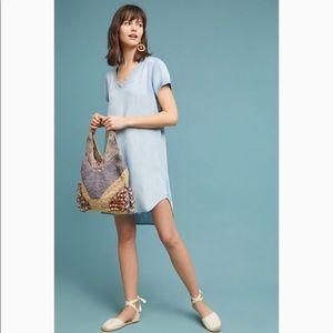Anthropologie Dresses - Anthropologie Cloth & Stone V Neck Gray Dress S
